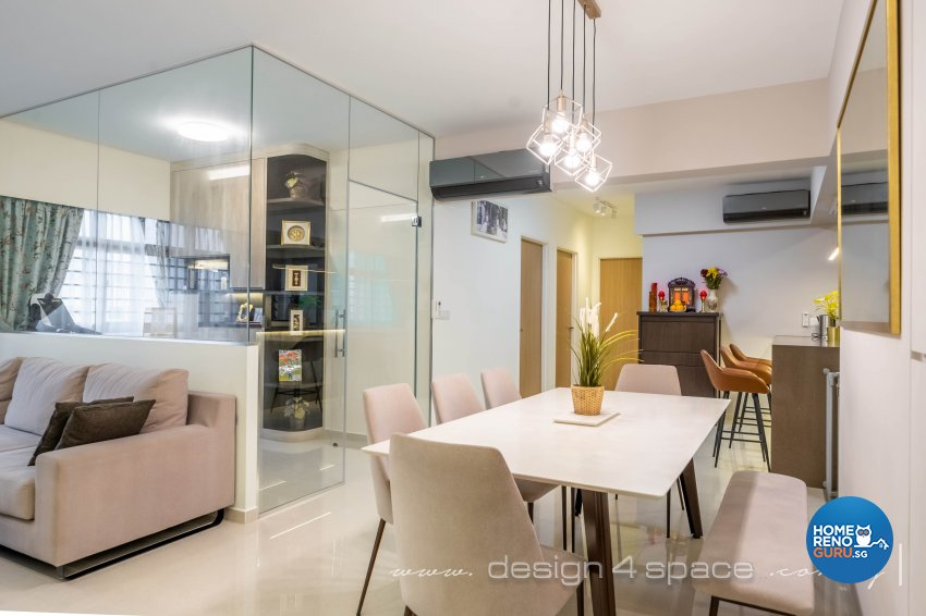 Contemporary, Modern Design - Dining Room - HDB 5 Room - Design by Design 4 Space Pte Ltd
