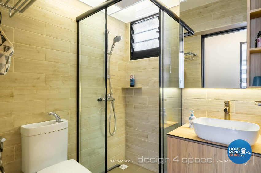 Scandinavian Design - Bathroom - HDB 5 Room - Design by Design 4 Space Pte Ltd