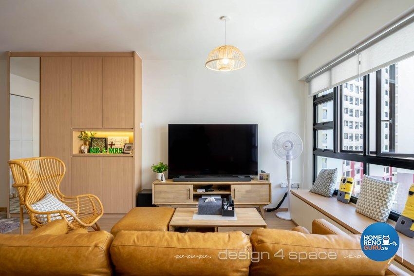Scandinavian Design - Living Room - HDB 5 Room - Design by Design 4 Space Pte Ltd