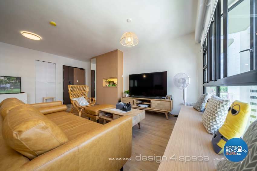 Scandinavian Design - Living Room - HDB 5 Room - Design by Design 4 Space Pte Ltd