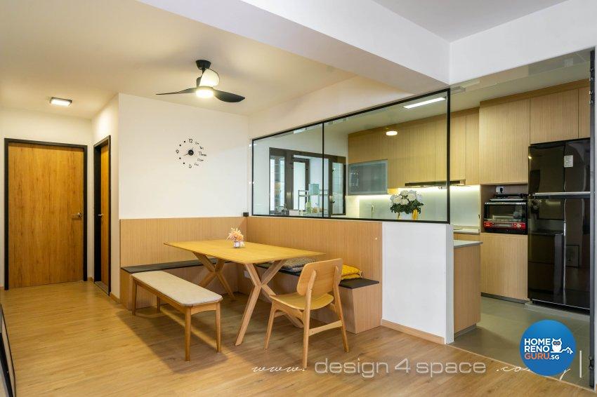 Scandinavian Design - Dining Room - HDB 5 Room - Design by Design 4 Space Pte Ltd