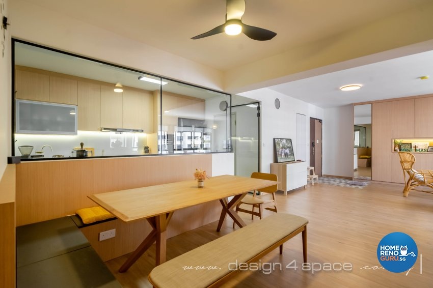 Scandinavian Design - Dining Room - HDB 5 Room - Design by Design 4 Space Pte Ltd