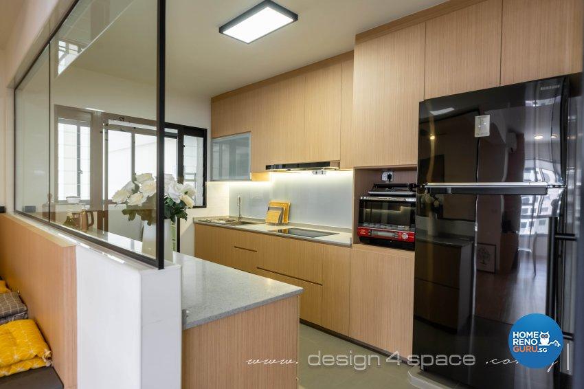 Scandinavian Design - Kitchen - HDB 5 Room - Design by Design 4 Space Pte Ltd