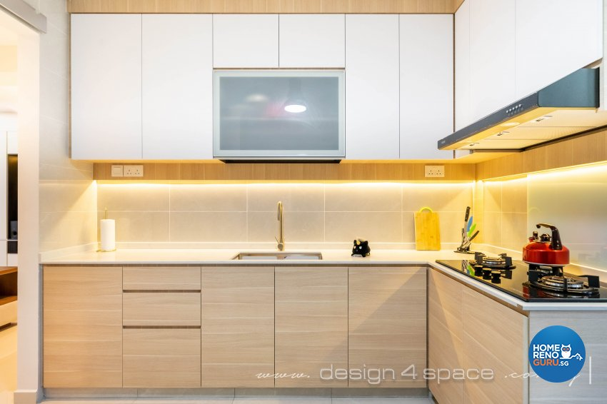 Contemporary, Modern Design - Kitchen - HDB Executive Apartment - Design by Design 4 Space Pte Ltd