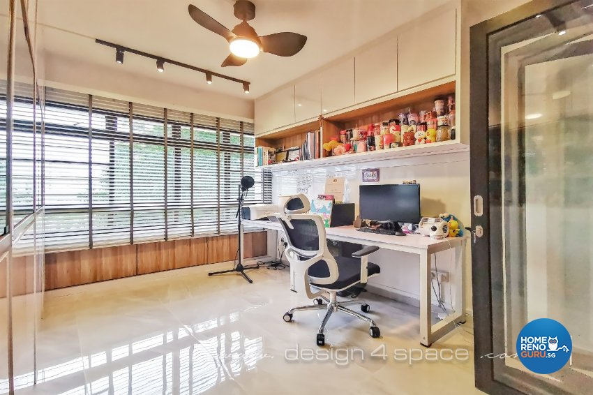 Contemporary, Modern Design - Study Room - HDB 5 Room - Design by Design 4 Space Pte Ltd
