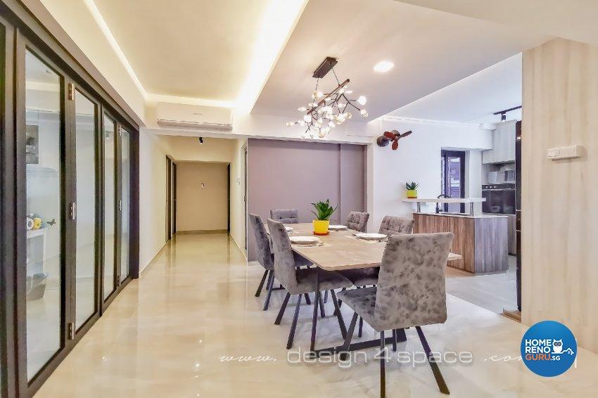 Contemporary, Modern Design - Dining Room - HDB 5 Room - Design by Design 4 Space Pte Ltd