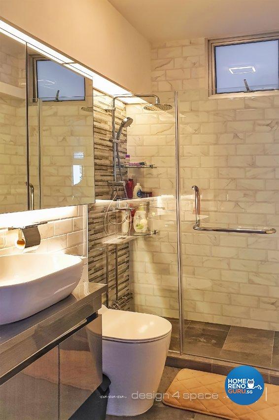 Contemporary, Modern Design - Bathroom - HDB 5 Room - Design by Design 4 Space Pte Ltd