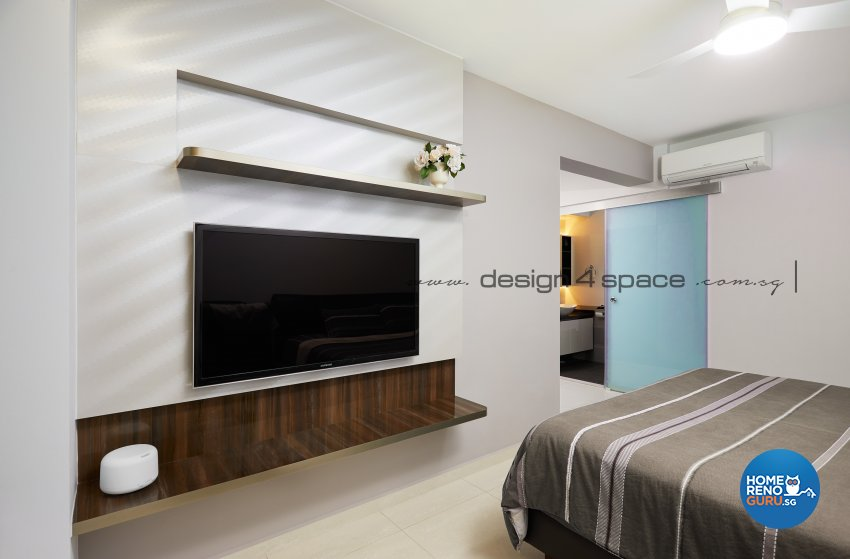 Contemporary Design - Bedroom - HDB 5 Room - Design by Design 4 Space Pte Ltd