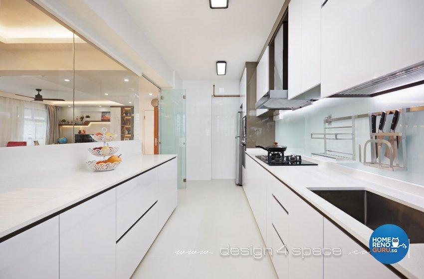 Contemporary, Scandinavian Design - Kitchen - HDB 5 Room - Design by Design 4 Space Pte Ltd