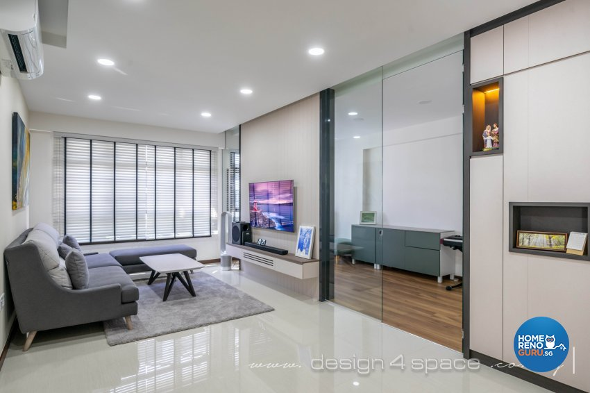 Modern Design - Living Room - HDB 5 Room - Design by Design 4 Space Pte Ltd