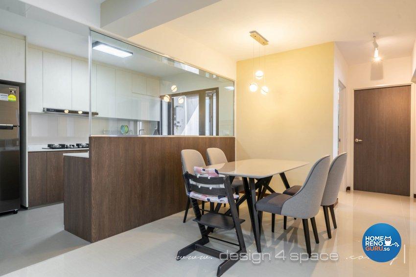 Modern Design - Dining Room - HDB 5 Room - Design by Design 4 Space Pte Ltd