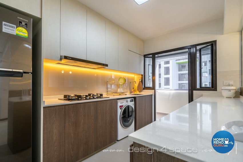 Modern Design - Kitchen - HDB 5 Room - Design by Design 4 Space Pte Ltd