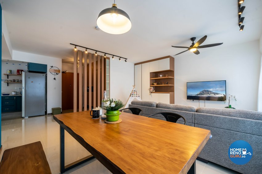 Modern, Scandinavian Design - Dining Room - HDB 5 Room - Design by Design 4 Space Pte Ltd