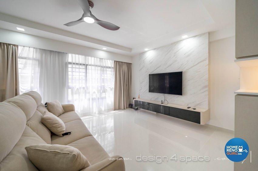 Minimalist Design - Living Room - HDB 5 Room - Design by Design 4 Space Pte Ltd
