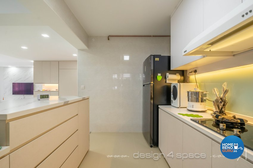Minimalist Design - Kitchen - HDB 5 Room - Design by Design 4 Space Pte Ltd