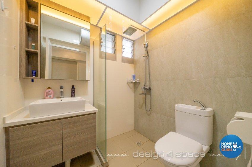 Minimalist Design - Bathroom - HDB 5 Room - Design by Design 4 Space Pte Ltd