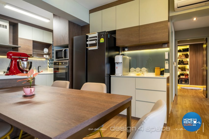 Modern Design - Dining Room - HDB 5 Room - Design by Design 4 Space Pte Ltd