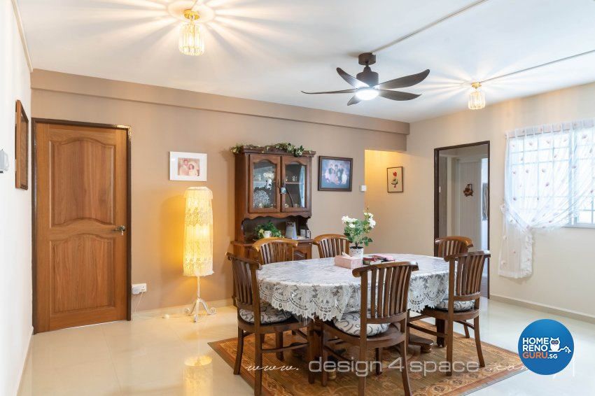 Country, Others Design - Dining Room - HDB 5 Room - Design by Design 4 Space Pte Ltd