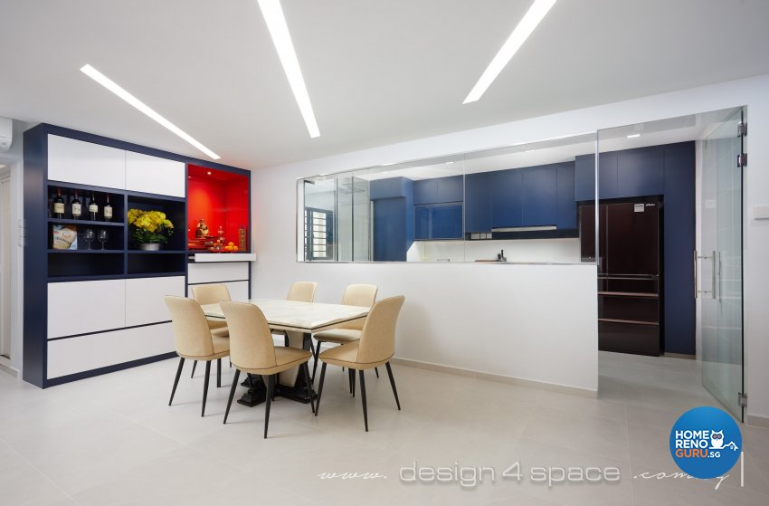 Contemporary Design - Dining Room - HDB 5 Room - Design by Design 4 Space Pte Ltd