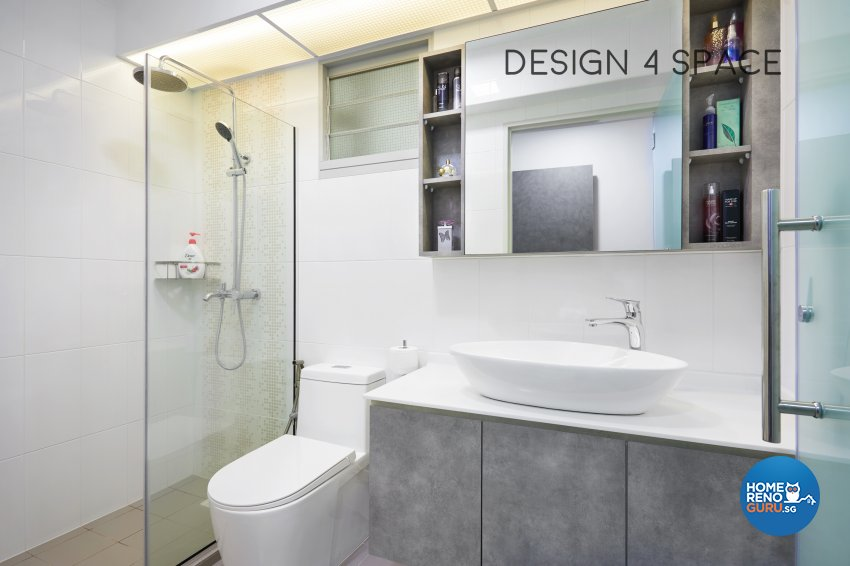 Contemporary, Modern Design - Bathroom - HDB 5 Room - Design by Design 4 Space Pte Ltd
