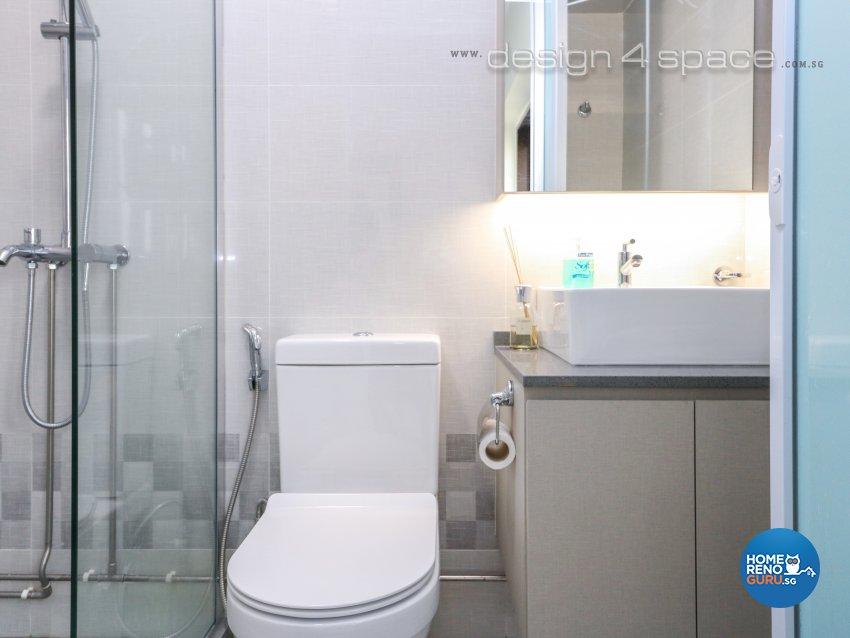 Eclectic, Industrial, Minimalist Design - Bathroom - HDB 5 Room - Design by Design 4 Space Pte Ltd