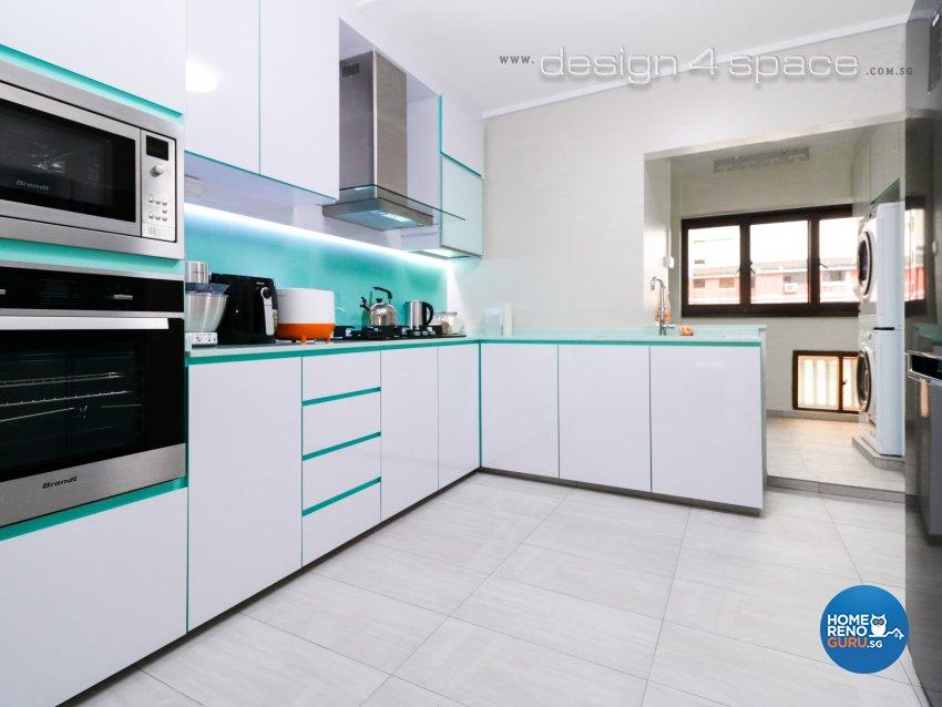 Eclectic, Industrial, Minimalist Design - Kitchen - HDB 5 Room - Design by Design 4 Space Pte Ltd