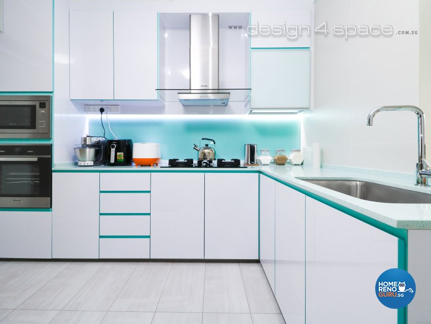 Eclectic, Industrial, Minimalist Design - Kitchen - HDB 5 Room - Design by Design 4 Space Pte Ltd