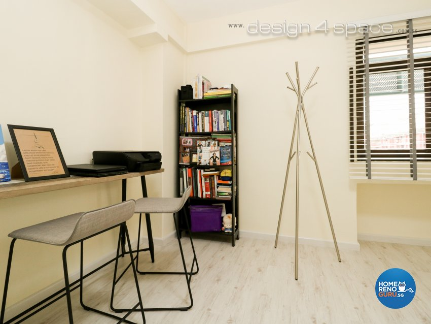Eclectic, Industrial, Minimalist Design - Study Room - HDB 5 Room - Design by Design 4 Space Pte Ltd