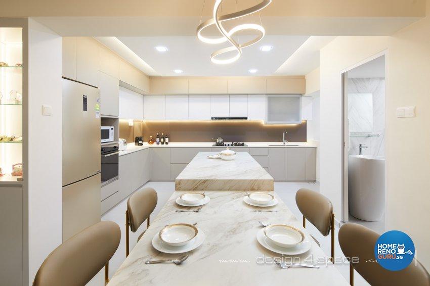Modern Design - Kitchen - HDB 5 Room - Design by Design 4 Space Pte Ltd