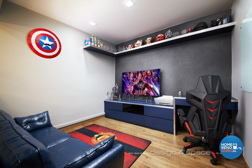 Modern Design - Entertainment Room - HDB 5 Room - Design by Design 4 Space Pte Ltd
