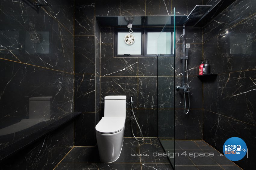 Modern Design - Bathroom - HDB 5 Room - Design by Design 4 Space Pte Ltd