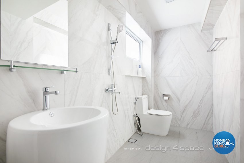 Modern Design - Bathroom - HDB 5 Room - Design by Design 4 Space Pte Ltd