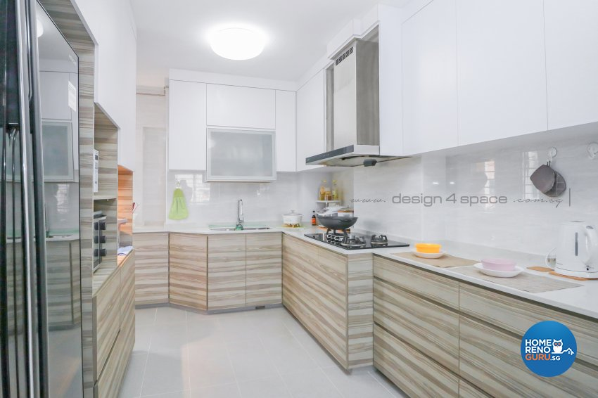 Minimalist Design - Kitchen - HDB 5 Room - Design by Design 4 Space Pte Ltd