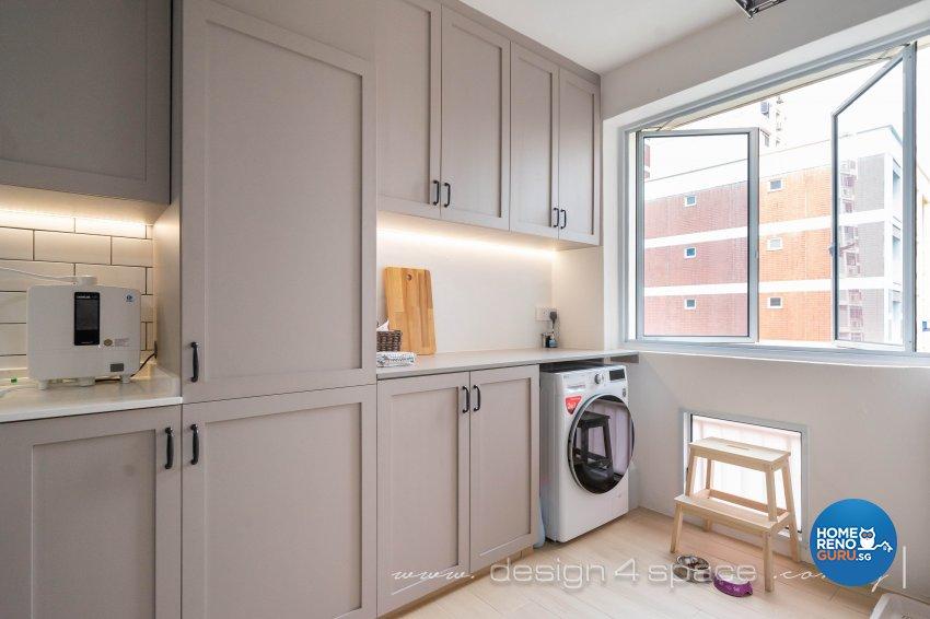 Country Design - Kitchen - HDB 5 Room - Design by Design 4 Space Pte Ltd