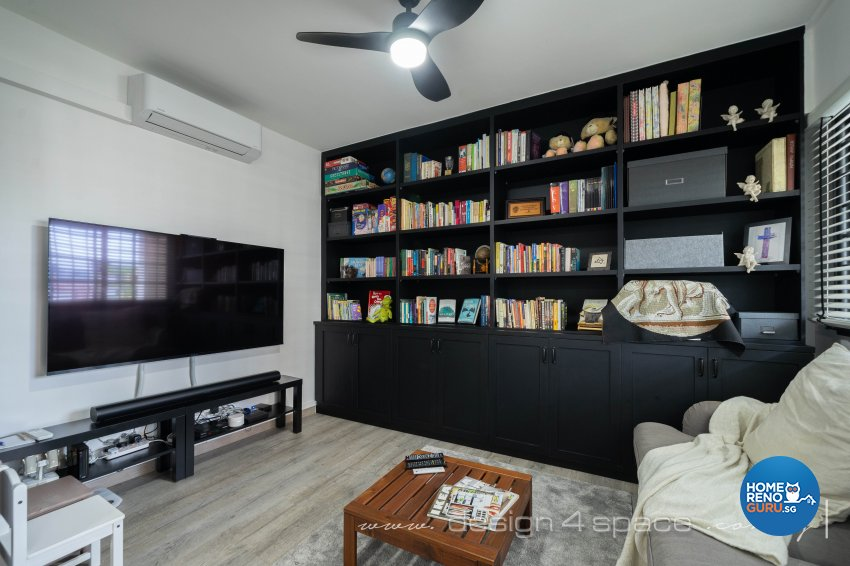 Country Design - Entertainment Room - HDB 5 Room - Design by Design 4 Space Pte Ltd