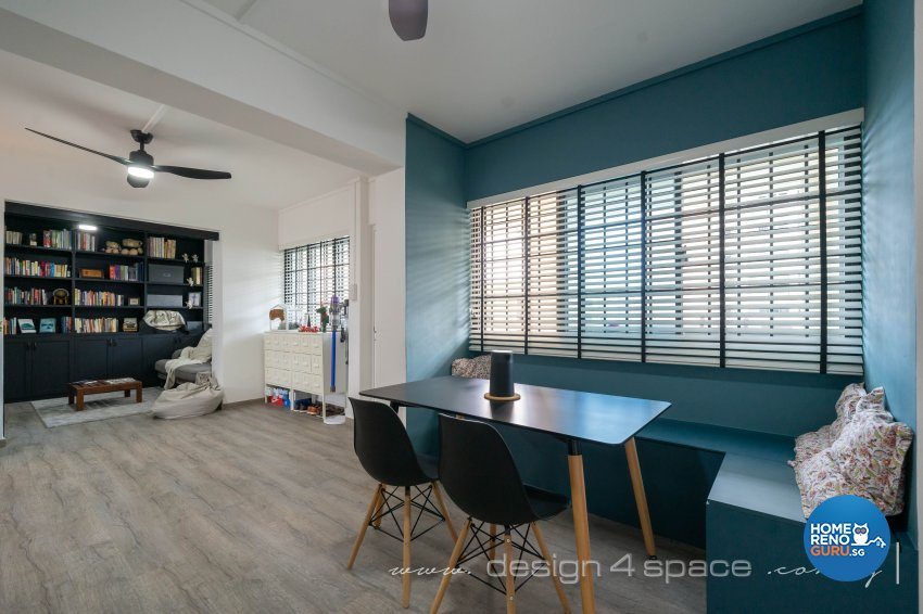 Country Design - Dining Room - HDB 5 Room - Design by Design 4 Space Pte Ltd