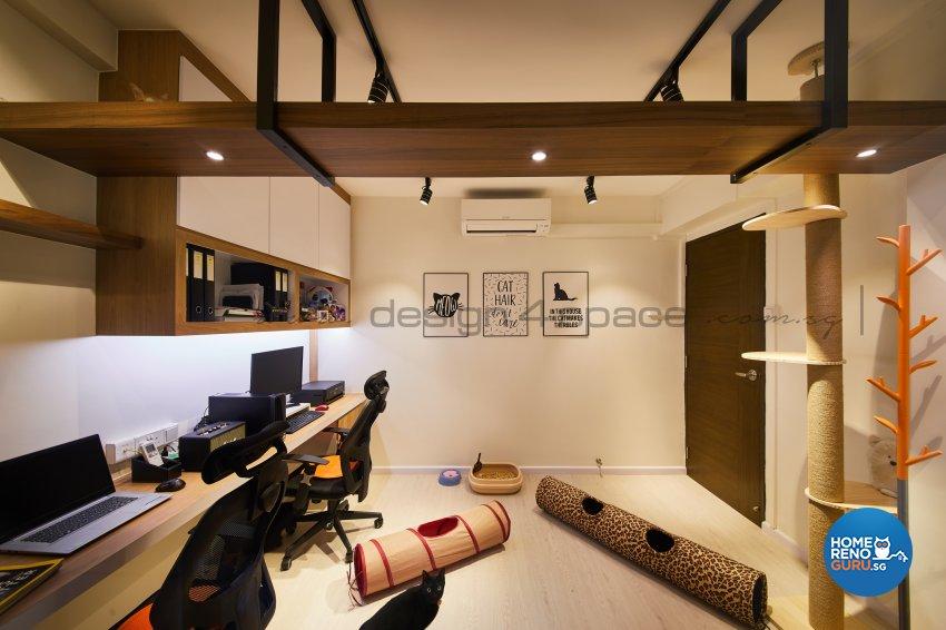 Resort Design - Study Room - HDB 5 Room - Design by Design 4 Space Pte Ltd