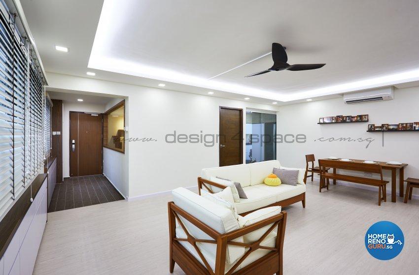 Resort Design - Living Room - HDB 5 Room - Design by Design 4 Space Pte Ltd