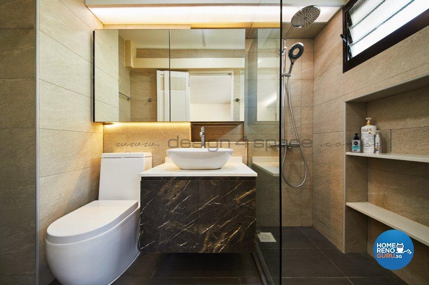 Resort Design - Bathroom - HDB 5 Room - Design by Design 4 Space Pte Ltd