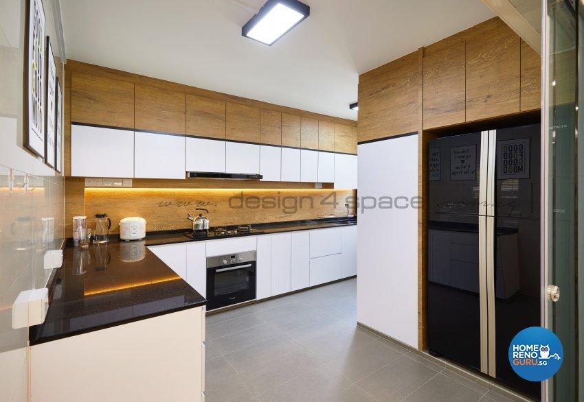 Resort Design - Kitchen - HDB 5 Room - Design by Design 4 Space Pte Ltd