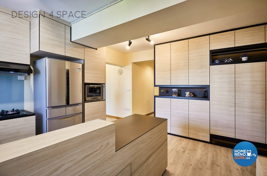 Contemporary, Modern Design - Kitchen - HDB 5 Room - Design by Design 4 Space Pte Ltd