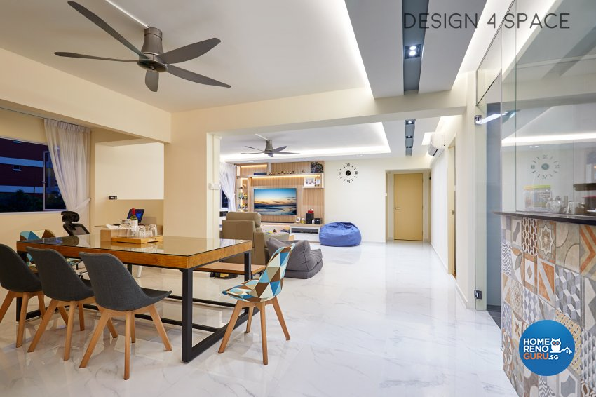 Contemporary, Scandinavian Design - Dining Room - HDB 5 Room - Design by Design 4 Space Pte Ltd