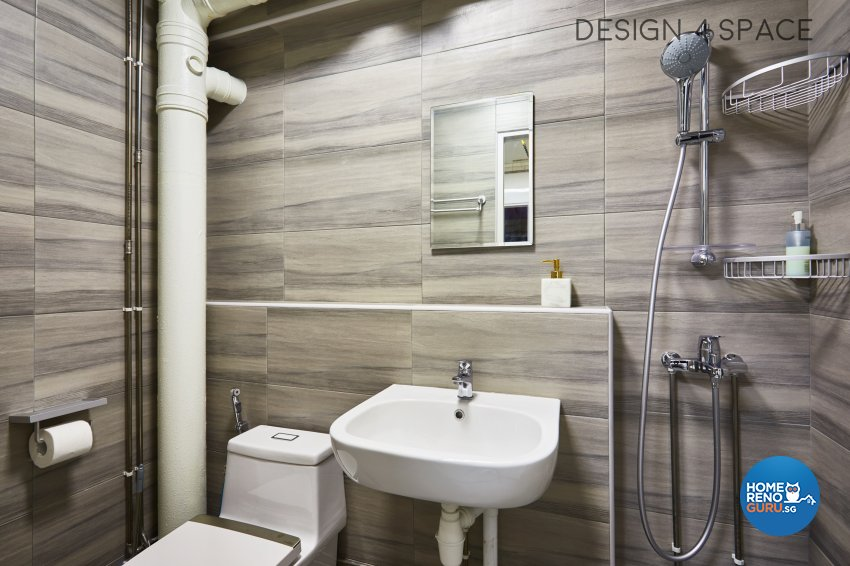Contemporary, Scandinavian Design - Bathroom - HDB 5 Room - Design by Design 4 Space Pte Ltd