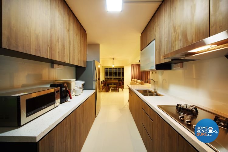 Contemporary, Minimalist Design - Kitchen - HDB 5 Room - Design by Design 4 Space Pte Ltd
