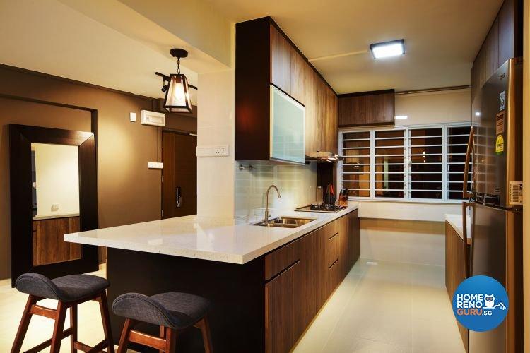 Contemporary, Minimalist Design - Kitchen - HDB 5 Room - Design by Design 4 Space Pte Ltd