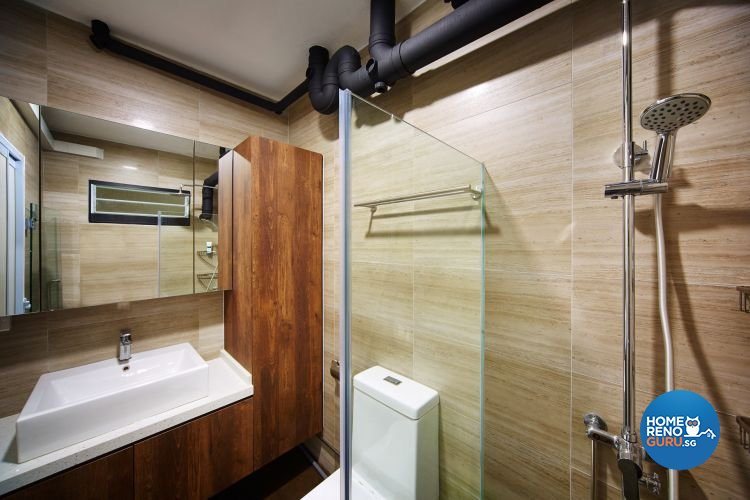 Contemporary, Minimalist Design - Bathroom - HDB 5 Room - Design by Design 4 Space Pte Ltd