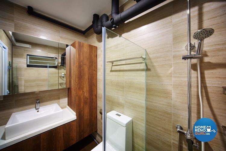 Contemporary, Minimalist Design - Bathroom - HDB 5 Room - Design by Design 4 Space Pte Ltd