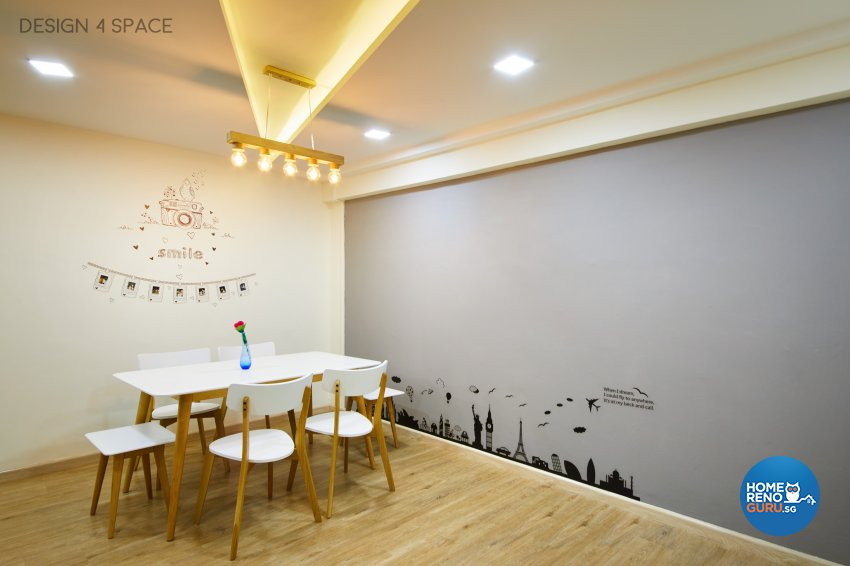 Contemporary, Modern, Scandinavian Design - Dining Room - HDB 5 Room - Design by Design 4 Space Pte Ltd