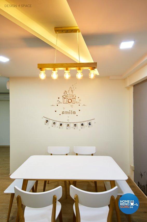 Contemporary, Modern, Scandinavian Design - Dining Room - HDB 5 Room - Design by Design 4 Space Pte Ltd