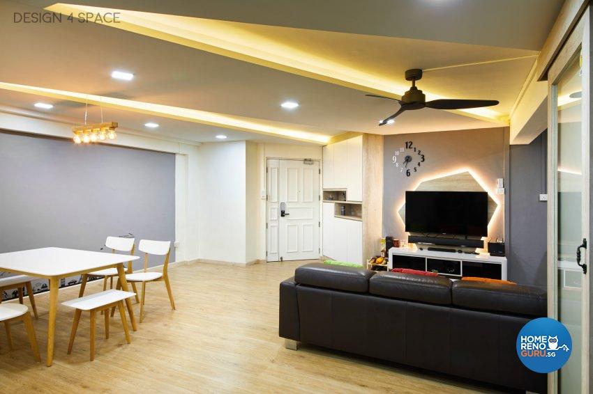Contemporary, Modern, Scandinavian Design - Living Room - HDB 5 Room - Design by Design 4 Space Pte Ltd